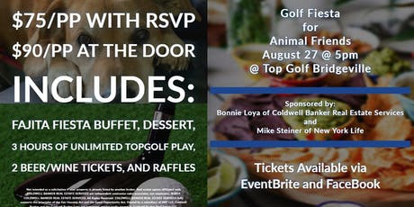 Animal Friends Fundraiser at Top Golf Bridgeville tickets