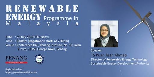 Renewable Energy Programme in Malaysia