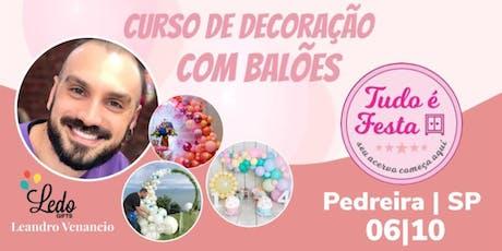 Ledo Gifts - Curso de Balões | Pedreira SP ingressos