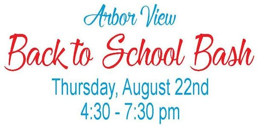 Arbor View Elementary School BACK TO SCHOOL BASH 2019