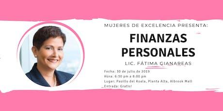 Finanzas Personales tickets