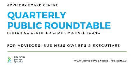 Quarterly Executive Roundtable - Melbourne tickets