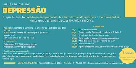 Grupo de Estudos | Depressão  ingressos