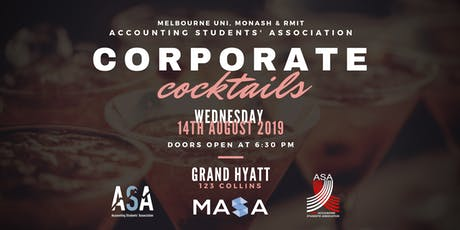 ASA, MASA & RMIT ASA Present: Corporate Cocktails 2019 tickets