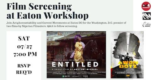 Film Screening at Eaton Workshop
