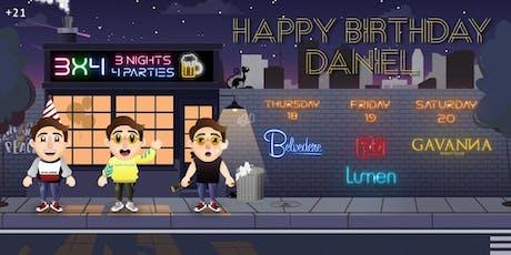 Daniel's Birthday Rounds 1,2,3 by Mythnight tickets