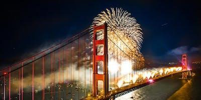 New Year's Eve 2020 Fireworks Sail on San Francisco Bay