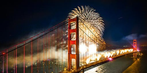 New Year's Eve 2020 Fireworks Sail on San Francisco Bay
