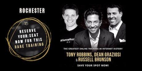 TONY ROBBINS, DEAN GRAZIOSI & RUSSELL BRUNSON (Rochester) tickets
