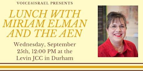 Lunch with Miriam Elman tickets