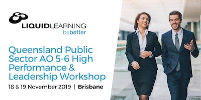 Queensland Public Sector AO 5-6 High Performance & Leadership Workshop