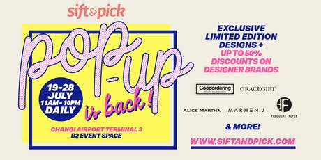 Sift & Pick Pop-up Store: 19-28 Jul 2019 tickets
