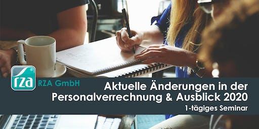 Aktuelle Änderungen in der Personalverrechnung im 1. Halbjahr 2019 und Ausblick auf 2020 - 1-tägiges Seminar