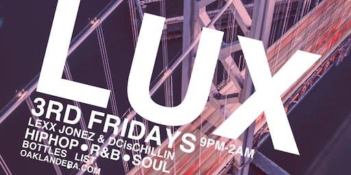 LUX 3rd Fridays FREE GUESTLIST & VIP