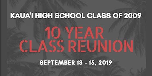 KAUAI HIGH SCHOOL C/O 2009 - 10 YEAR REUNION