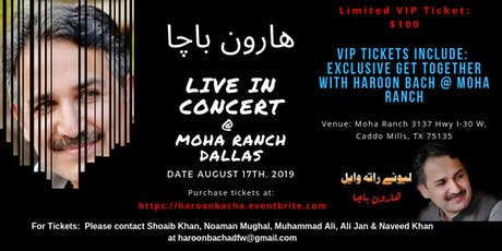 Harron Bach Live in Concert @ Moha Ranch Dallas TX tickets