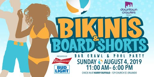 Bikinis & Board Shorts Bar Crawl and Pool Party