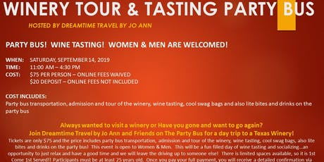 Dreamtime Winery Tour & Wine Tasting Party Bus Day Trip tickets