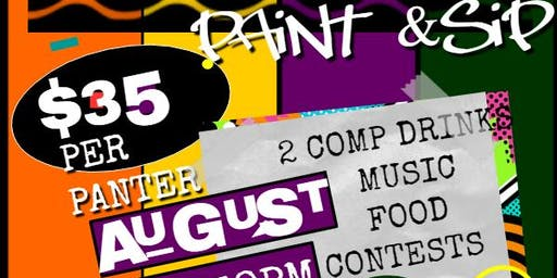 Adult Back to School Paint & Sip 90s theme