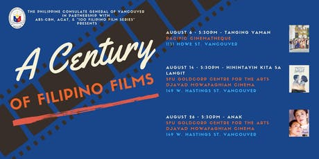 The Philippine Consulate General and Partners presents A Century of Filipino Films  tickets