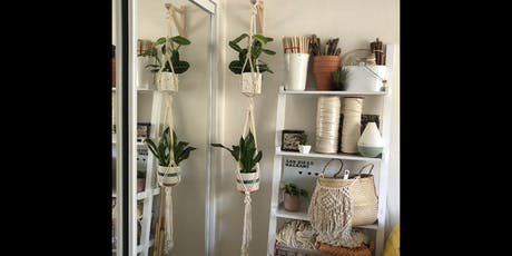 Double Plant Hanger Macrame Workshop- Makers Quarter tickets
