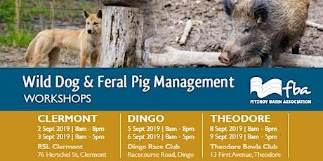 Wild dog and feral pig management workshop - CLERMONT tickets