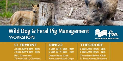 Wild dog and feral pig management workshop - CLERMONT