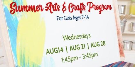 Summer Arts & Crafts Program tickets