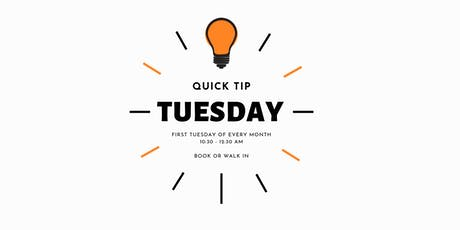 Quick Tip Tuesdays tickets