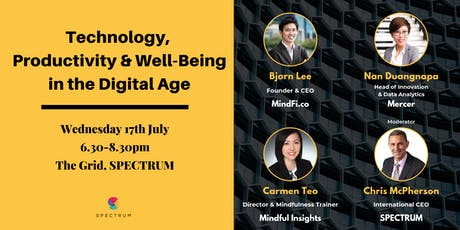 Technology, Productivity & Well-Being in the Digital Age tickets