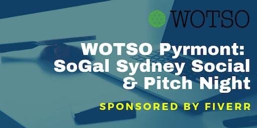 WOTSO Pyrmont Hosts: SoGal Sydney Social & Pitch Night