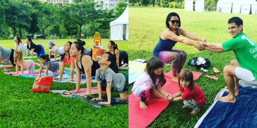 Complimentary Outdoor Family Yoga at Bishan Park (Aug)