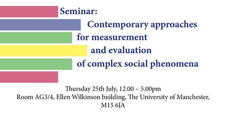 Contemporary approaches for measurement and evaluation of complex social phenomena tickets