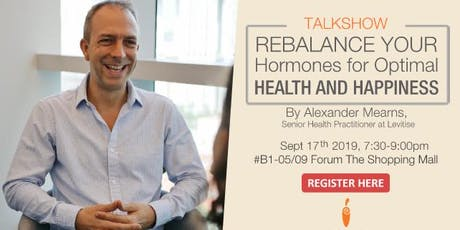 Rebalance Your Hormones for Optimal Health and Happiness tickets