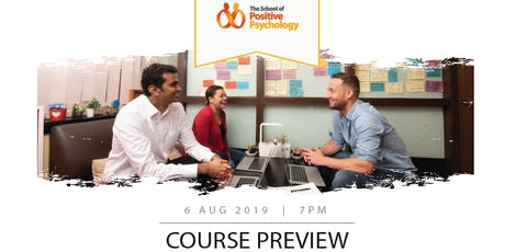COURSE PREVIEW (POSITIVE PSYCHOLOGY & PSYCHOTHERAPY) tickets