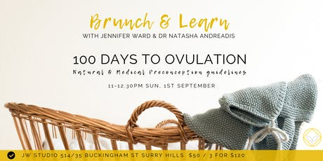 Brunch & Learn - 100 Days to Ovulation: Preconception Guidelines  tickets