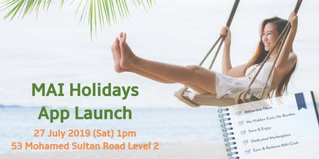 MAI Holidays App Launch tickets