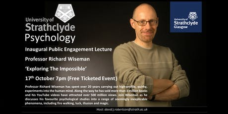 Exploring The Impossible – The Inaugural Strathclyde Psychology Public Engagement Lecture  tickets