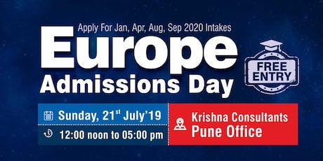 Europe Admissions Day at Krishna Consultants Pune - Sunday, 21st July 2019 tickets