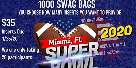 Super Bowl 2020 Swag Bag Advertisers Wanted entradas
