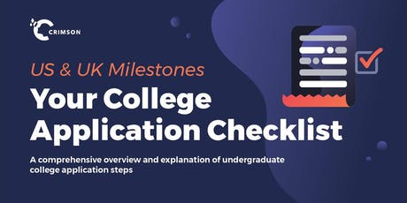 US & UK Milestones: Your College Applications Checklist (Thailand) tickets