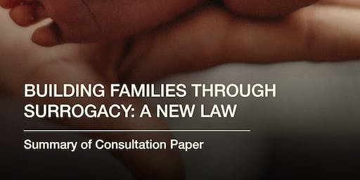 """""""Building families through surrogacy: a new law"""" - a consultation event (Cardiff)"""