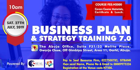 BUSINESS PLAN AND STRATEGY TRAINING 7.0 tickets