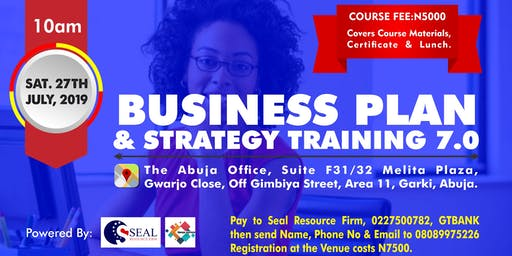 BUSINESS PLAN AND STRATEGY TRAINING 7.0