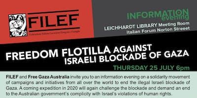 Freedom Flotilla against Israeli Blockade of Gaza