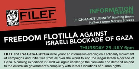 Freedom Flotilla against Israeli Blockade of Gaza tickets