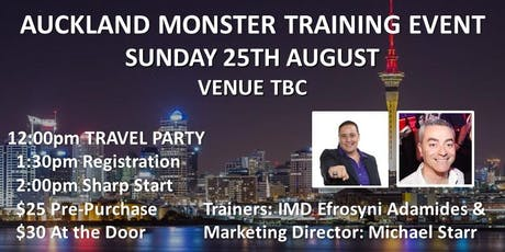 AUCKLAND MONSTER TRAINING EVENT! tickets