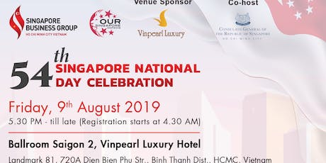 RSVP - 54TH SINGAPORE NATIONAL DAY CELEBRATION - OUR SINGAPORE tickets