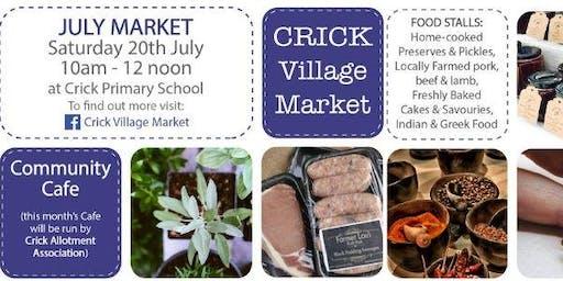 Crick Village Market - July