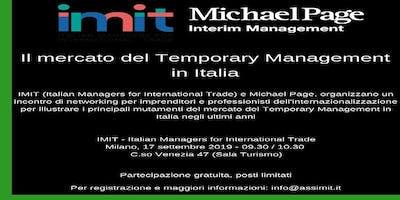 Il mercato del Temporary Management in Italia - Milano, 17 settembre 2019